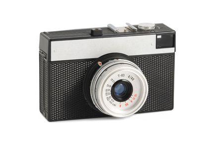 rangefinder: Old photocamera Stock Photo