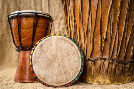 手作りジャンベ ドラム 写真素材