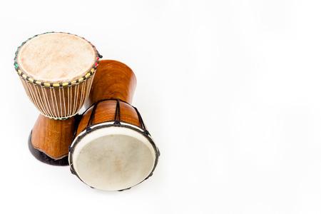 rhythm rhythmic: Background with two Djembe drums