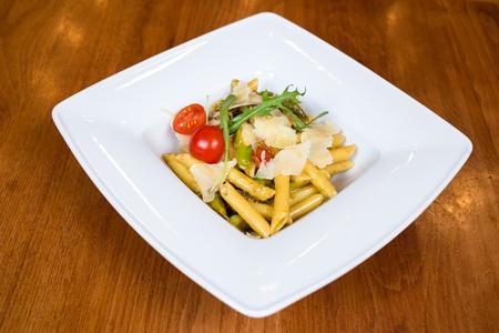 Imperatore Romano pasta in white plate Standard-Bild
