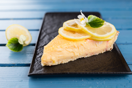 Piece of tasty lemon pie - Lemon Tart
