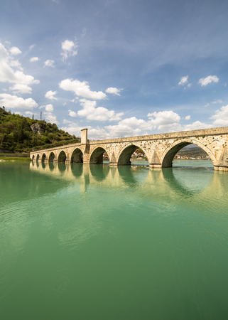 Mehmed Pasa Sokolovic Bridge in Visegrad on Drina River