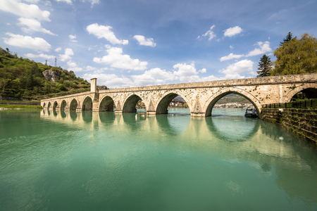 Mehmed Pasa Sokolovic Bridge in Visegrad on Drina River