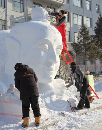 The snow sculpture competition