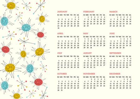 mid century modern: Mid-Century styled 2016 calendar