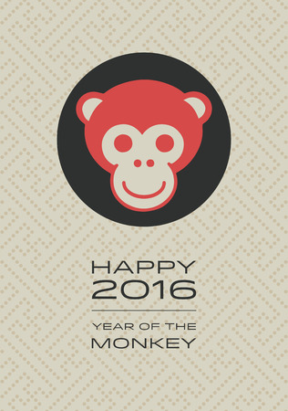 monkey face: Year of the Monkey