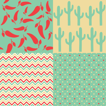 mexican background: Set of Mexican Patterns Illustration