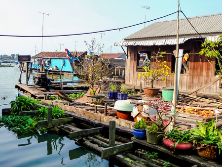 Floating village Duc Hoa