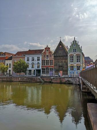 Maisons du 16ème et 17ème siècle Het paradijske, Sint) Jozef et De duiveltjes dans le vieux Haverwerf dans le centre-ville de Malines, Belgique.