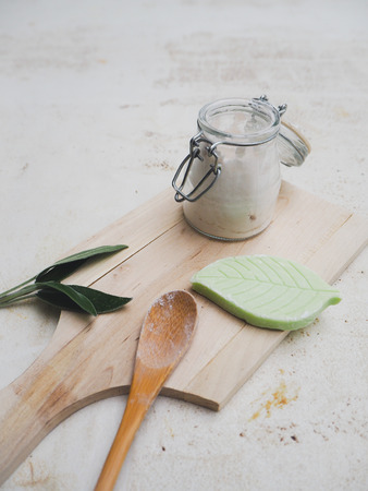 DIY set for creating a homemade vegan deodorant and adhering to a plastic free, zero waste lifestyle