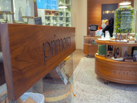 March 2019 - Seoul, South Korea: Flagship store of the South Korean luxury skincare brand Primera in Myeongdong district Stock fotó - 127151307