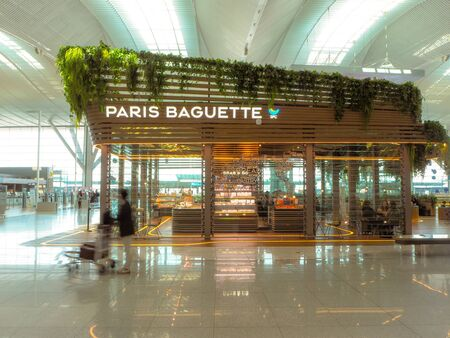 March 2019 - Incheon, South Korea: Paris Baguette backery store at the terminal 2 of the Incheon International Airport Stock fotó - 127151312