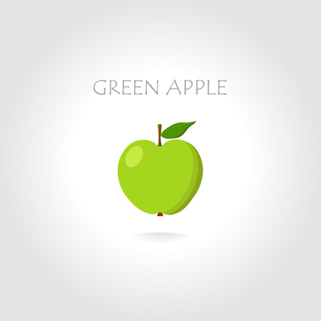 tittle: green apple vector illustration with text tittle