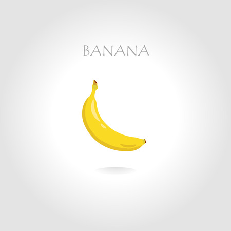 tittle: fresh banana vector illustration with text tittle Illustration