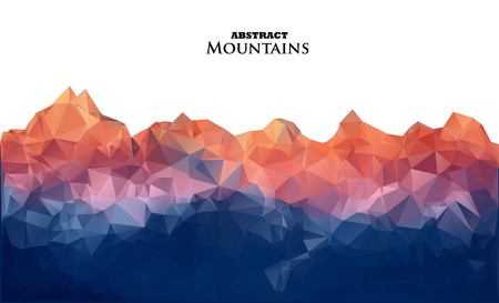 Abstract background with mountains in polygonal style. Vector illustration. Design element. Иллюстрация