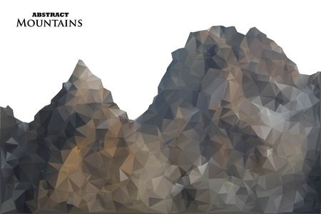 ridge: Abstract background with mountains in polygonal style. Vector illustration. Design element. Illustration