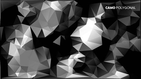 Abstract Vector Military Camouflage Background Made of Geometric Triangles Shapes. Vector illustration. Banco de Imagens