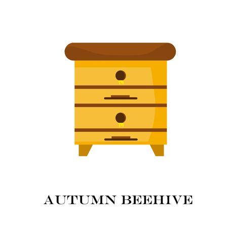 Apiary honey bee house apiary vector illustrations. Bee, honey, bee house, honeycomb.
