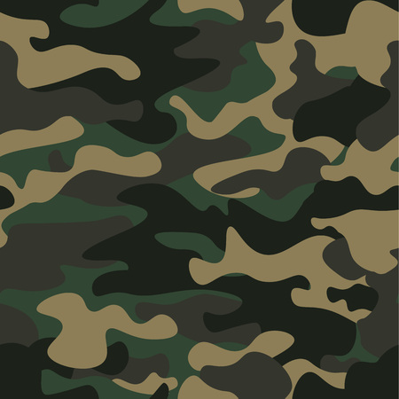 シームレスなパターン背景を偽装します。迷彩柄リピート印刷をマスキングの古典的な服のスタイル。グリーン ブラウン ブラック オリーブ色の森 写真素材