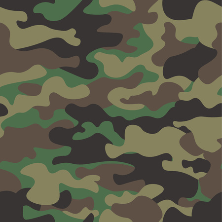 Camouflage patroon illustratie. Stock Illustratie