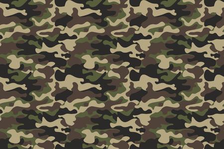 Camouflage de fond transparente. Bannière transparente horizontale. Imprimé camouflage classique style camouflage. Texture de forêt vert olive brun vert. Élément de conception. Vecteur Vecteurs