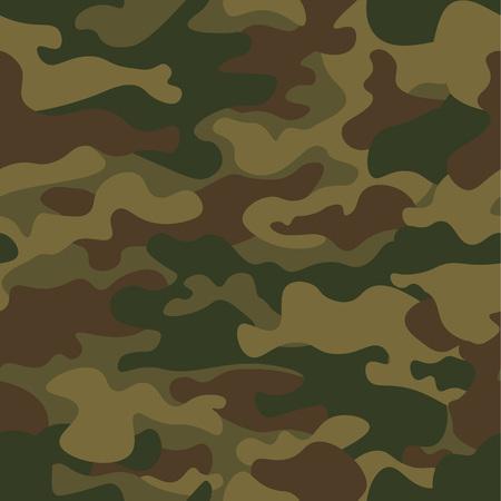 Padrão de camuflagem sem costura. Textura Khaki, ilustração vetorial. Fundo de impressão Camo. Contexto de estilo militar abstrato.