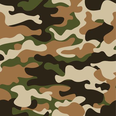 Teste padrão na moda do camo do vetor moderno da forma. Estilo clássico da roupa que mascara a cópia da repetição do camo. A azeitona preta marrom verde colore a textura da floresta. Elemento de design. Ilustração vetorial