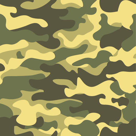 Seamless camouflage pattern. Khaki texture illustration. Camouflage print background. Abstract military style backdrop.