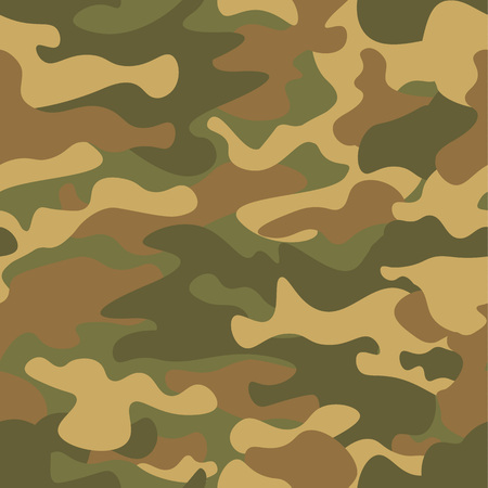 Seamless camouflage pattern. Khaki texture, vector illustration. Camo print background. Abstract military style backdrop for your design.