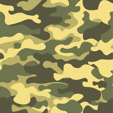 Seamless camouflage pattern. Khaki texture, vector illustration. Camo print background. Abstract military style backdrop.