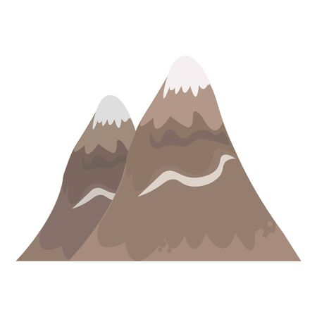 Caucasian high stone mountains icon. Cartoon of caucasian high stone mountains vector icon for web design isolated on white background 矢量图像