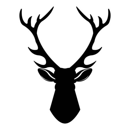 Deer head icon. Simple illustration of deer head vector icon for web design isolated on white background