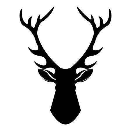 Hirschkopf-Symbol. Einfache Illustration der Hirschkopfvektorikone für das Webdesign lokalisiert auf weißem Hintergrund