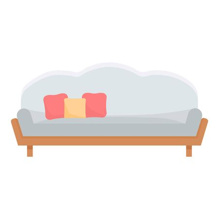 Modern room sofa icon. Cartoon of modern room sofa vector icon for web design isolated on white background