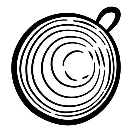 Garden berry plant icon. Hand drawn illustration of garden berry plant vector icon for web design Ilustração