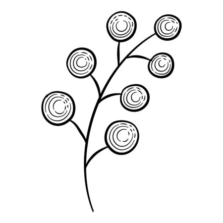 Berry branch icon. Hand drawn illustration of berry branch vector icon for web design