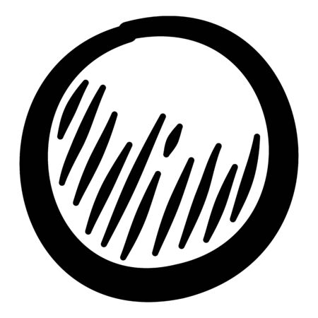 Flower grain icon. Hand drawn illustration of flower grain vector icon for web design
