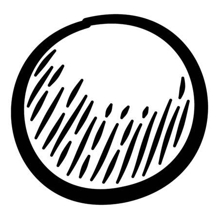 Grain condiment icon. Hand drawn illustration of grain condiment vector icon for web design