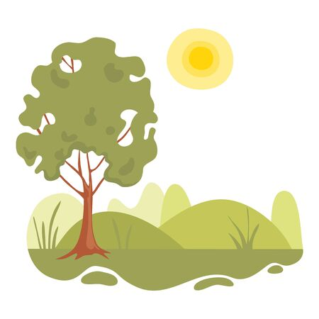 Nature landscape field icon. Cartoon of nature landscape field vector icon for web design isolated on white background