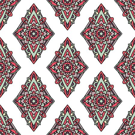 Native tribal pattern. Outline illustration of native tribal vector pattern for web design