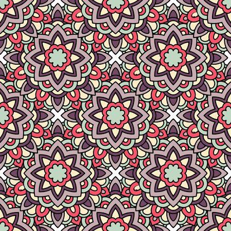 Ethnic tribal pattern. Outline illustration of ethnic tribal vector pattern for web design