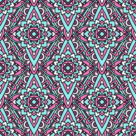 Colorful tribal native pattern. Outline illustration of colorful tribal native vector pattern for web design