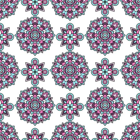 Trendy color tribal pattern. Outline illustration of trendy color tribal vector pattern for web design