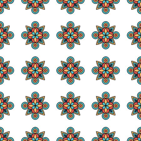 Flower tribal pattern. Outline illustration of flower tribal vector pattern for web design 向量圖像