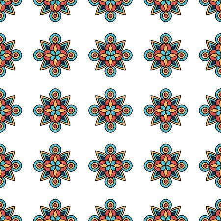 Flower tribal pattern. Outline illustration of flower tribal vector pattern for web design Ilustração