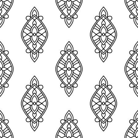 Decorative tribal pattern. Outline illustration of decorative tribal vector pattern for web design