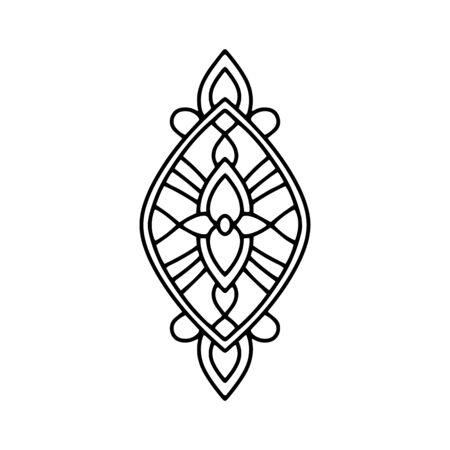 Meditation mandala icon. Outline meditation mandala vector icon for web design isolated on white background Ilustração