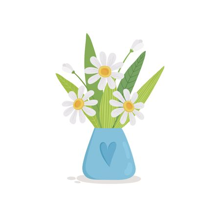 Summer bouquet of flowers in a watering can icon. Cartoon of summer bouquet of flowers in a watering can vector icon for web design isolated on white background