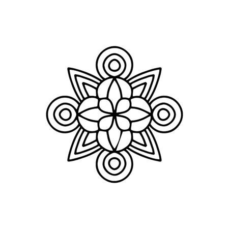 Boho flower mandala icon. Outline boho flower mandala vector icon for web design isolated on white background