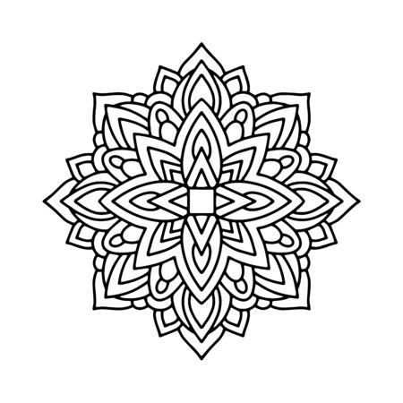 Mandala icon. Outline mandala vector icon for web design isolated on white background
